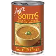 Amys Indian Golden Lentil Soup, 14.4 Ounce -- 12 per case.