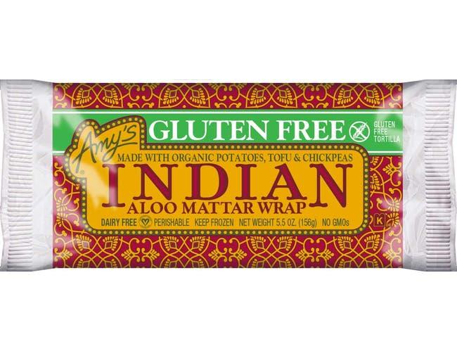 Amys Gluten Free Indian Aloo Mattar Wrap, 5.5 Ounce -- 12 per case.