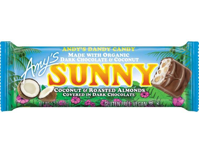 Amys Organic Sunny Candy Bar, 1.3 Ounce -- 48 per case