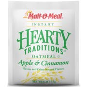 Malt-O-Meal Hearty Traditions Instant Apple Cinnamon Oat Meal, 1.25 Ounce -- 48 per case