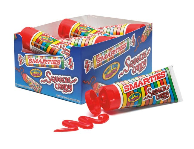 Smarties Squeeze Candy, 2.25 Ounce -- 72 per case.