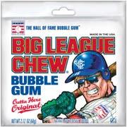 Big League Original Chew Bubble Gum, 12 per pack -- 9 packs per case.