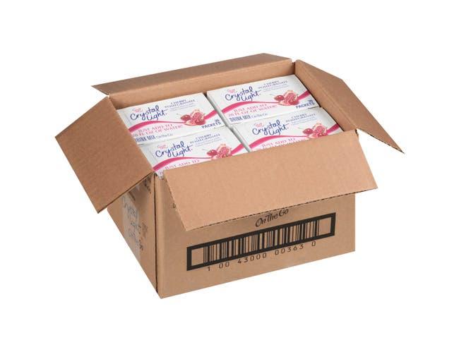 Crystal Light Cherry Pomegranate Beverage Mix - 30 per pack -- 4 packs per case.