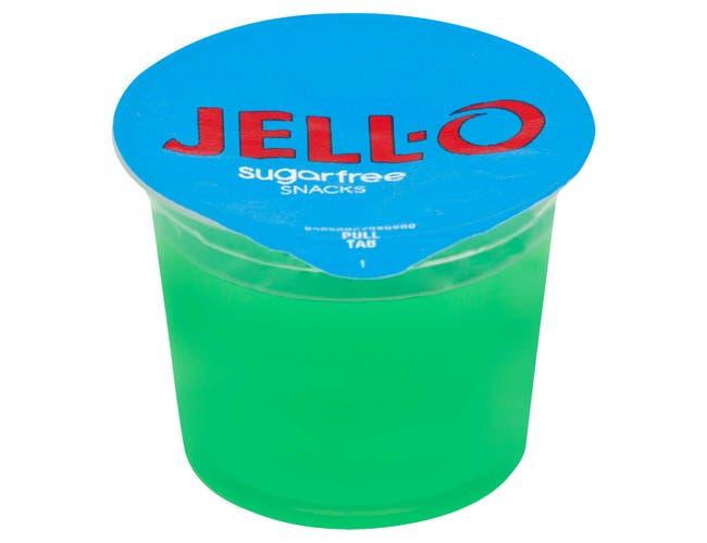 Jello Ready To Eat Lemon Lime Gelatin Snacks, 12.5 Ounce -- 6 per case.