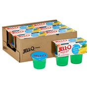 Jello Ready To Eat Lemon Lime Gelatin Snacks, 12.5 Ounce -- 6 per case.