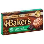 Bakers German Sweet Chocolate Baking Bar, 4 Ounce -- 12 per case.