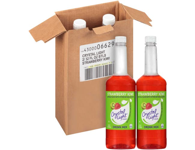 Crystal Light Concentrate Strawberry Kiwi Liquid Beverage Mix, 32 Fluid Ounce -- 2 per case.