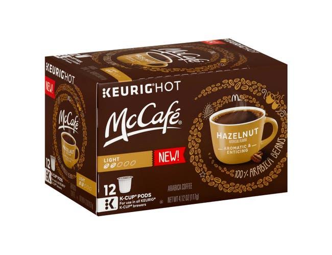 Mccafe Hazelnut Coffee Pods, 4.12 Ounce -- 6 per case.