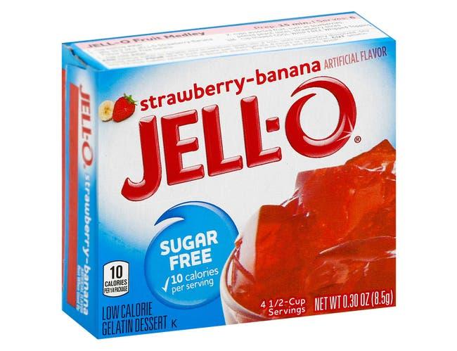 Jello Strawberry Banana Gelatin,  .3 Ounce -- 24 Case