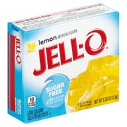 Jello Lemon Sugar Free Gelatin, .3 Ounce -- 24 Case