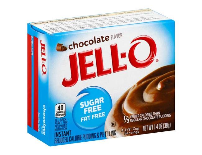 Jello Sugar/Fat Free Instant Chocolate Pudding, 1.4 Ounce -- 24 Case