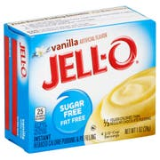 Jell-O Sugar/Fat Free Instant Vanilla Pudding 24 per Case, 1 Ounce each