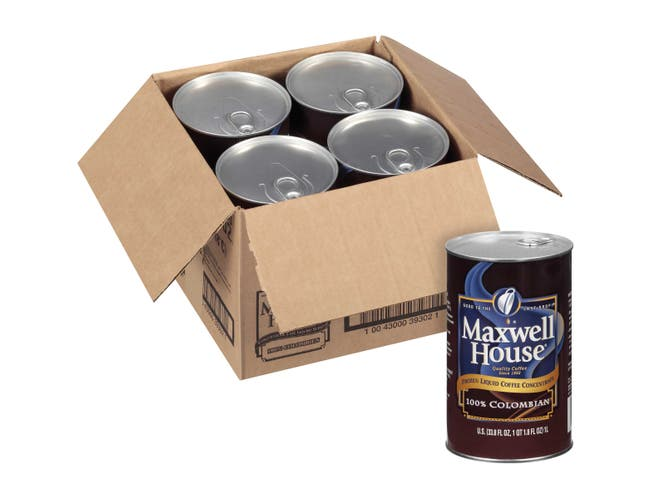 Maxwell House 100% Colombian Liquid Coffee, 33.8 ounce -- 4 per case