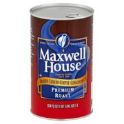 Maxwell House Premium Roast Coffee Frozen Liquid Concentrate - 33.8 oz. carton, 4 cartons per case