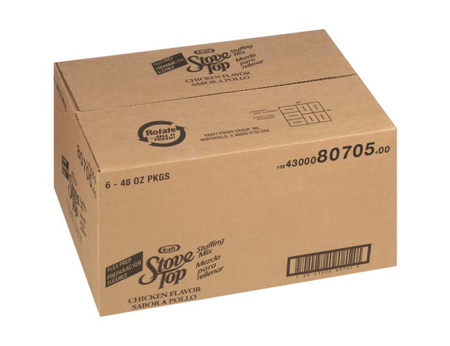 Stove Top Flexible Serving Chicken Stuffing 6 Case 48 Ounce
