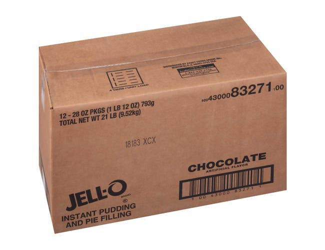 Pudding Jello Instant Chocolate 12 Case 28 Ounce