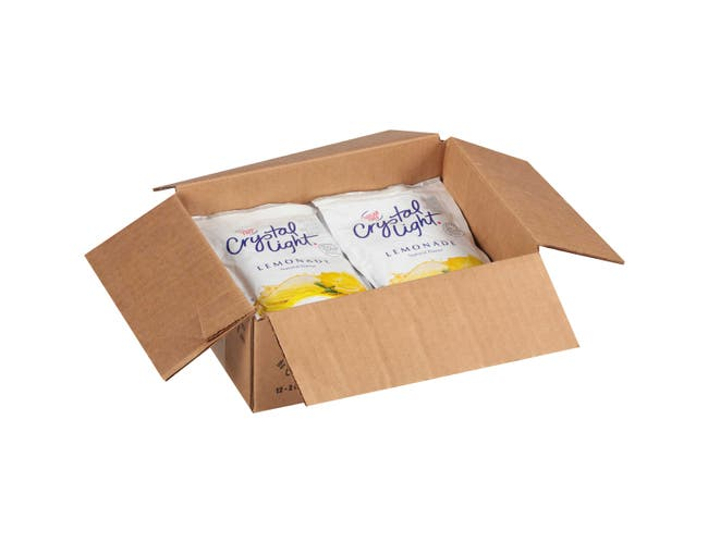 Crystal Light Lemonade Mix 12 Envelopes Per Case - Each Evelope Makes 2 Gallons