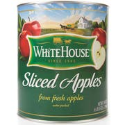 Commodity Canned Fruit and Vegetables Sliced Apple in Water, Number 10 Can -- 6 per case