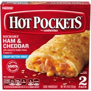 Nestle Hot Pockets Ham and Cheese Stuffed Sandwich, 9 Ounce -- 8 per case.