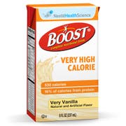 Boost Very High Calorie Meal Replacement Vanilla Drink, 8 Fluid Ounce -- 27 Briks per case.