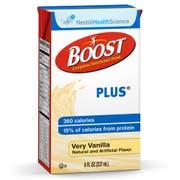 Boost Plus Vanilla Meal Replacement Plus Protien Drink, 8 Fluid Ounce -- 27 per case.
