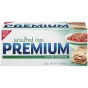 Kraft Nabisco Premium Saltine Cracker - Unsalted TOP, 16 Ounce -- 12 per case.