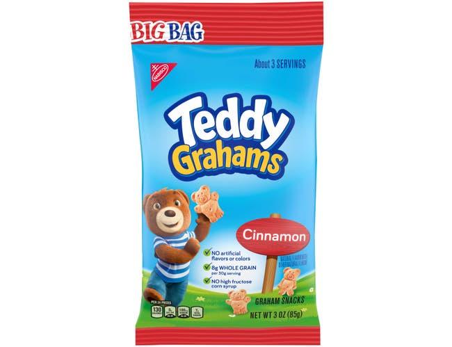 Teddy Grahams Cinnamon - 3 oz. big bag, 12 per case