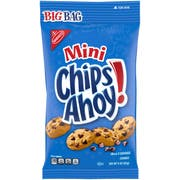 Nabisco Mini Chips Ahoy Chocolate Chip Bite-Size Go-Pack Snack Bag, 3 Ounce -- 12 per case