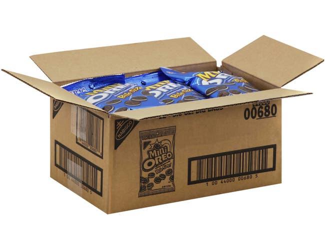 Kraft Oreo Mini Chocolate Sandwich Cookie, 3 Ounce -- 12 per case.