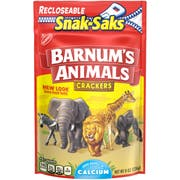 Nabisco Barnums Lunchbox Crackers Snak Saks, 8 Ounce -- 12 per case