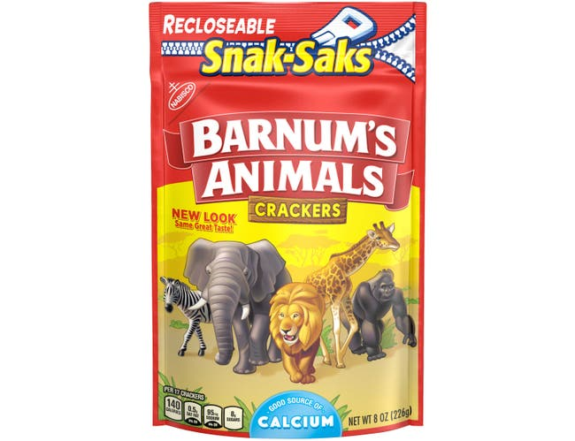 Nabisco Barnums Lunchbox Crackers Snak Saks, 8 Ounce -- 12 per case