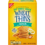 Wheat Thins Ranch Cracker, 9 Ounce -- 6 per case.