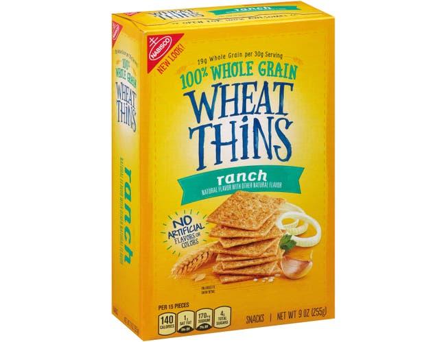 Wheat Thins Ranch Cracker, 9 Ounce -- 6 per case.