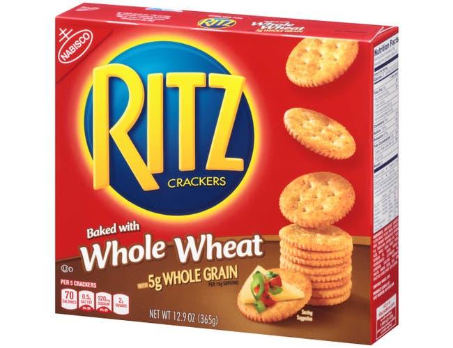 Nabisco Ritz Whole Wheat Cracker, 12.9 Ounce -- 12 per case.