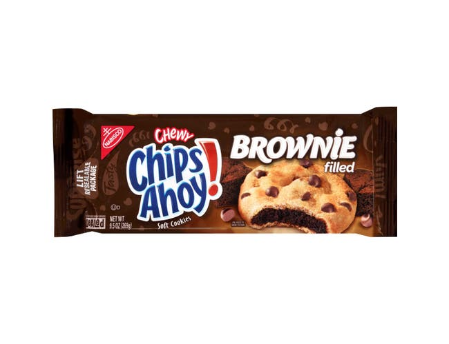 Nabisco Ahoy Chips Brownie Filled Cookies, 9.5 Ounce -- 12 per case.