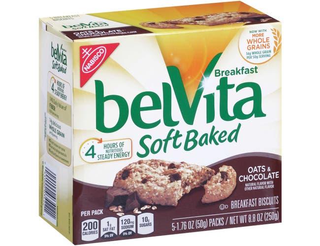 Nabisco Belvita Breakfast Soft Baked Cookies Chocolate Oat, 1.76 Ounce -- 30 per case.
