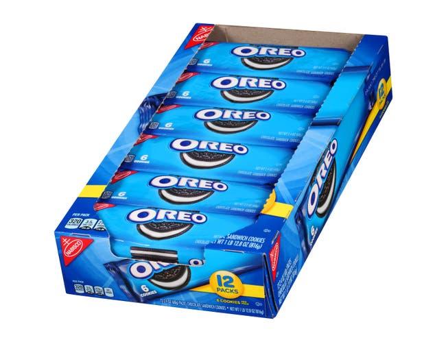 Oreo Chocolate Single Serve Sandwich Cookies, 2.4 Ounce -- 48 per case.