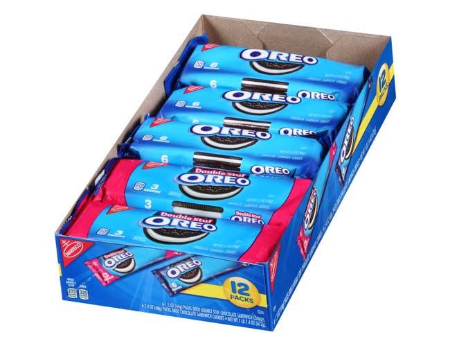 Oreo Single Serve Sandwich Cookies, 23.4 Ounce -- 48 per case.