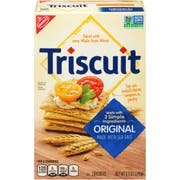 Nabisco Triscuit Original Crackers, 8.5 Ounce -- 12 per case.