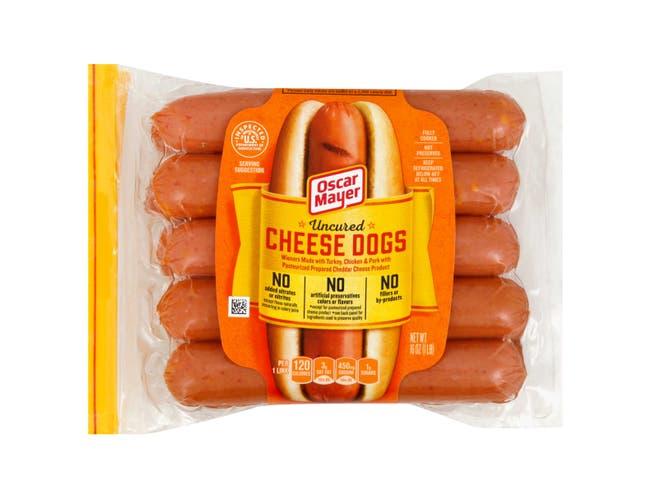 Kraft Oscar Mayer Hot Dog - Cheese, 16 Ounce -- 12 per case.