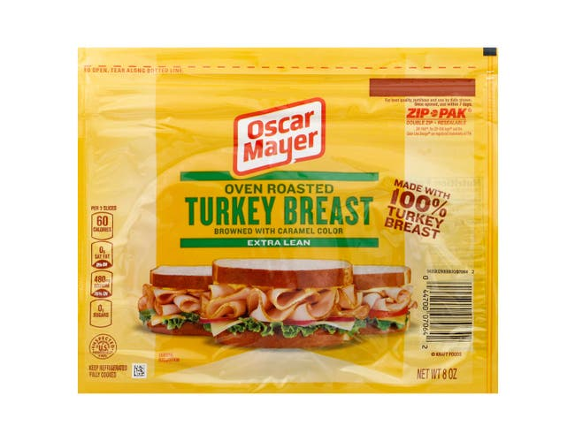 Oscar Mayer Turkey Breast and White Meat Oven Roasted, 8 Ounce -- 12 per case.