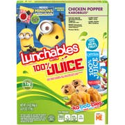 Lunchables Chicken and Cheese Popper Kabobbles with 100 Percent Juice, 9.4 Ounce -- 8 per case.
