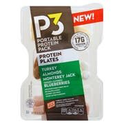 Oscar Mayer P3 Turkey, Almond, Monterey Jack and Yogurt Covered Blueberries Portable Protein Pack, 3.2 ounce -- 8 per case