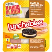 Lunchables Ham and American Cheese Cracker Stacker, 3.4 ounce -- 16 per case