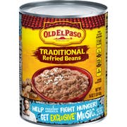 Old El Paso Traditional Refried Beans, 16 Ounce -- 24 per case.