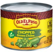 Old El Paso Peppers Small Chopped Green Chilies, 4.5 Ounce -- 24 per case.
