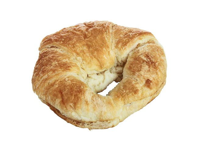Pennant Foods Jumbo Sliced Curved Butter Croissant, 4 Ounce -- 32 per case.