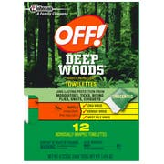 OFF Deep Woods Towelettes Insect Repellent, 12 count per pack -- 12 per case.