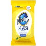 Pledge Lemon Peel and Reseal Clean Wipes, 24 count per pack -- 12 per case.