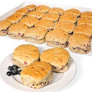 Bridgford White Whole Wheat Blueberry Flavored Biscuits -- 100 per case.